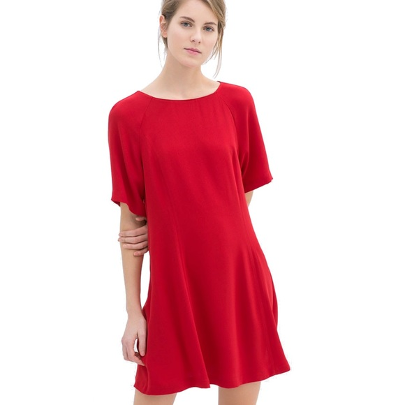 Simple Casual Red Dress